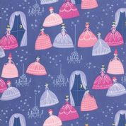 Moda - Once Upon a Time - Stacey Iest Hsu - 6239 - Grand Ball on Purple - 20593 20 - Cotton Fabric